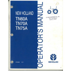 New Holland TN75A Tractor Operator's Manual (87040063)