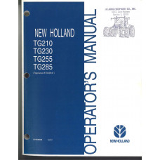 New Holland TG230 Tractor Operator's Manual (87056058)