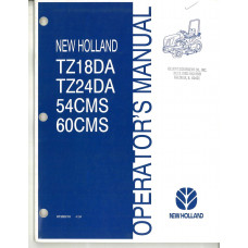 New Holland TZ18DA Tractor Operator's Manual (87302210)