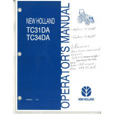 New Holland TC31DA Tractor Operator's Manual (87346272)
