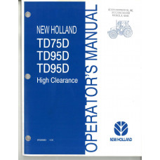 New Holland TD95D Tractor Operator's Manual (87529593)