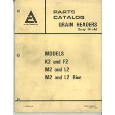 Allis Chalmers M2 & L2 Grain Header Parts Manual (9005173)