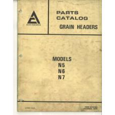 Allis Chalmers N6 Grain Header Parts Manual (9005763)
