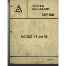 Allis Chalmers N6 Combine Parts Manual (9005764)