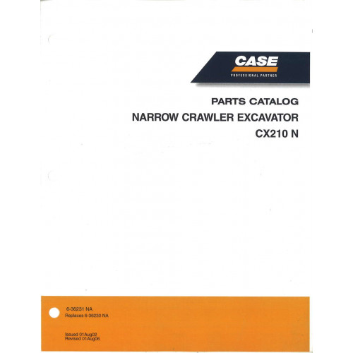Case CX210 N Excavator Parts Manual (6-36231NA)