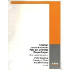Case CX225SR Excavator Parts Manual (7-8380)
