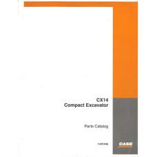 Case CX14 Excavator Parts Manual (7-8751NA)