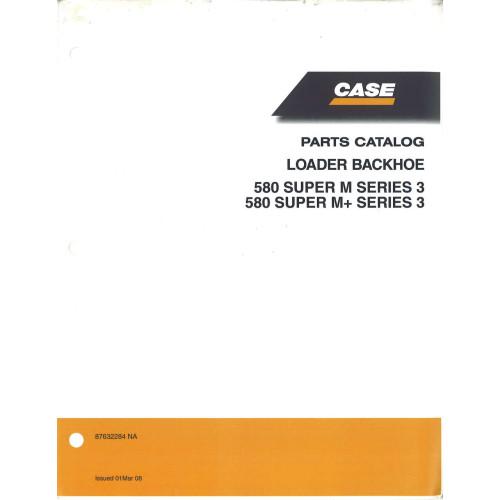 Case 580 SUPER M Tractor Loader Backhoe Parts Manual (87632284NA)