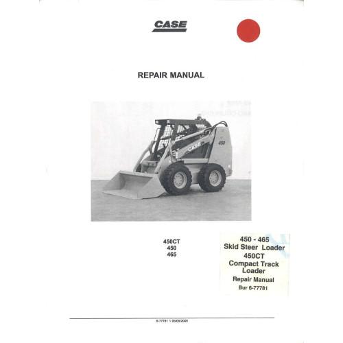 case 450 skid steer loader service manual 6 77780na rh jensales com Case Skid Steer Wiring Diagrams Case 450 Track Loader Parts