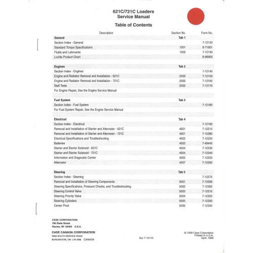 case 621c wheel loader service manual 7 12073 rh jensales com Case 621F Case 621E