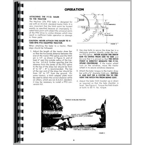 new holland 276 baler manual
