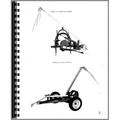 New Holland 456 Sickle Bar Mower Parts Manual