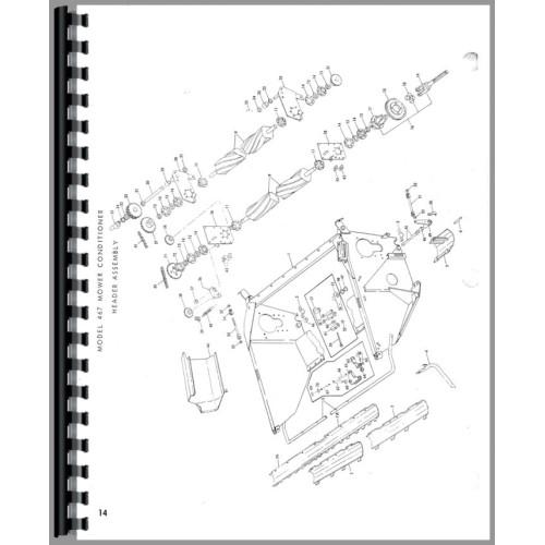 New Holland Parts Diagram | New Holland 467 Haybine Parts Manual