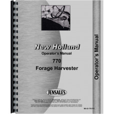 New Holland 770 Forage Harvester Operators Manual