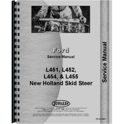 New Holland L455 Skid Steer Service Manual on