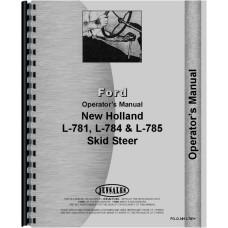 New Holland L784 Skid Steer Operators Manual