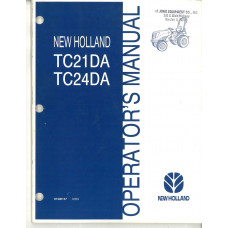 New Holland TC24DA Tractor Operator's Manual