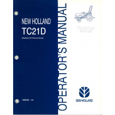 New Holland TC21D Tractor Operator's Manual