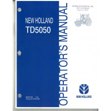 New Holland TD5050 Tractor Operator's Manual
