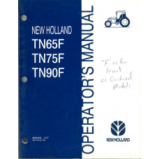 New Holland TN90F Tractor Operator's Manual