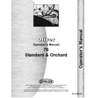 Cockshutt 70 Tractor Operators Manual (Standard & Orchard)