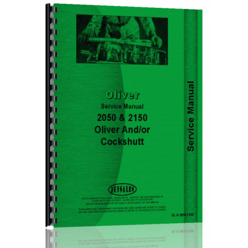 Oliver 2150 Tractor Service Manual on