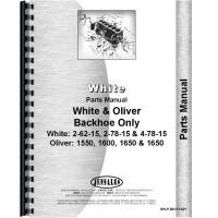 White 2-78-15 Backhoe Attachment Parts Manual