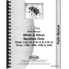 White 2-62-15 Backhoe Attachment Parts Manual