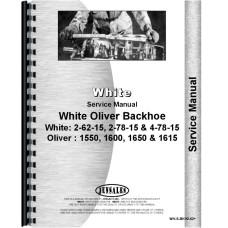 White 2-78-15 Backhoe Attachment Service Manual