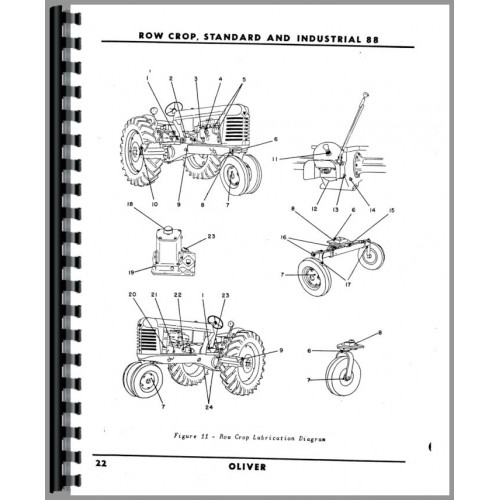 oliver 88 tractor wiring diagram