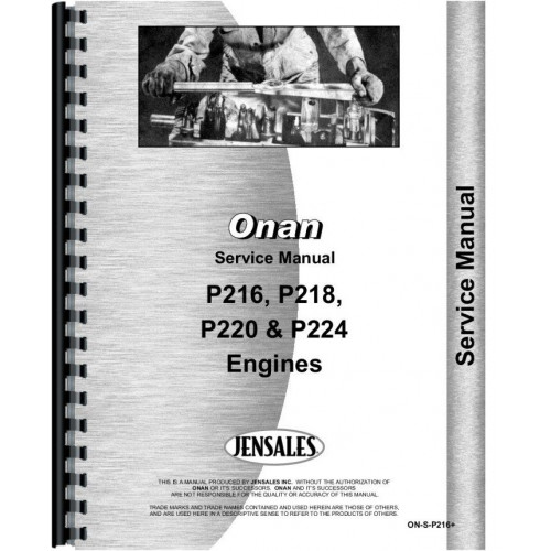onan engine service manual on s p216 rh jensales com onan engine service manual pdf Onan Engine Model Numbers