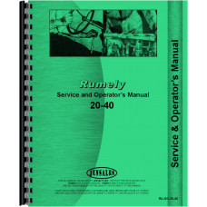Image of Rumely 20-40-G Oil Pull Tractor Service & Operators Manual