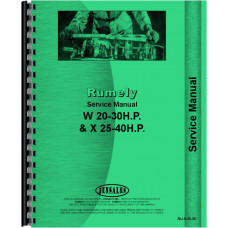 Rumely 20-30-W Oil Pull Tractor Service Manual