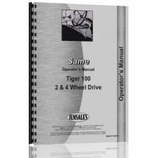 Image of Same Tiger 100 Tractor Operators Manual (Tiger 100)