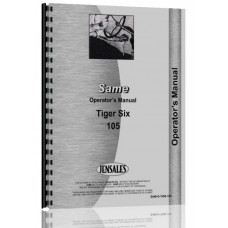 Image of Same Tiger Six 105 Tractor Operators Manual