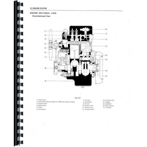 Satoh Tractor 4 Cylinder Engine Diagram - Wiring Diagram Site on
