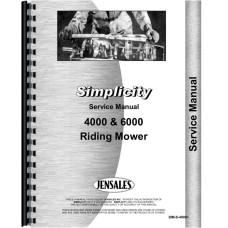 Simplicity 4008 Lawn & Garden Tractor Service Manual
