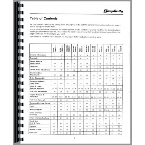 Simplicity 4208 owners manual