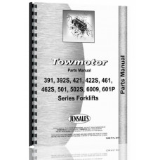 Towmotor 391, 392S, 421, 22S, 461, 462S, 501, 502P, 502S, 600P, 601P Forklift Parts Manual