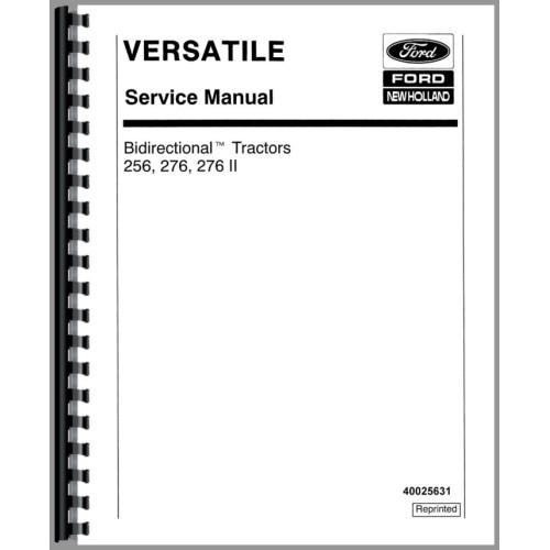 Versatile 276 Tractor Service Manual