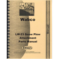 Adams 312 LW23 Snow Plow Attachment Parts Manual (Equipment)
