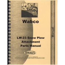 Le Tourneau 312 Motor Grader LW-23 Snow Plow Attachment Parts Manual (Mod LW-23)