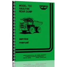 Wabco 75C Haulpak Rear Dump Truck Service Manual