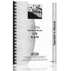 White 2-78 Tractor Operators Manual