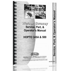 Warner-Swasey 345A Excavator Operators Manual