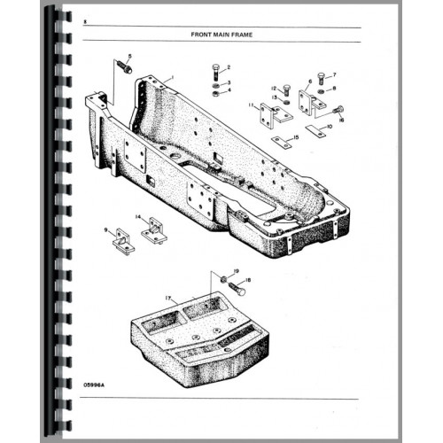 White 2 105 Tractor Parts Manual