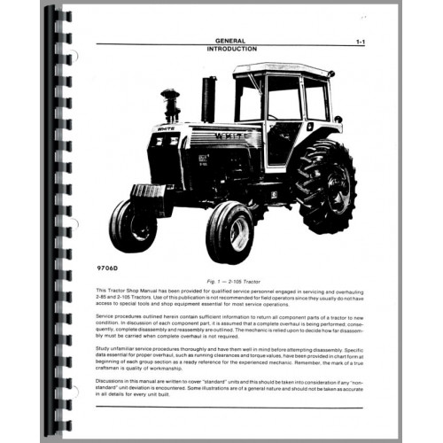 white 2 85 tractor service manual includes engine rh jensales com montana tractor manual free montana tractor manuals online