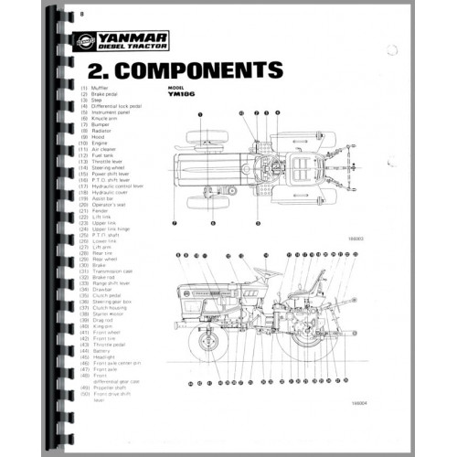 Yanmar YM186 Tractor Service Manual
