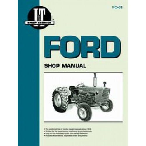 ford 2000 tractor service manual 1965 1975 3 cylinder it shop rh jensales com Ford 1720 Tractor Manual Ford 601 Tractor Manual