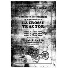 LaCrosse Models F, G, and H Tractor Manual